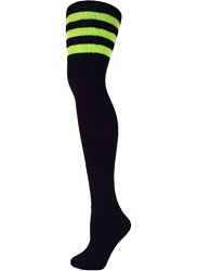 AJs Classic Triple Stripes Retro Thigh High Tube Socks