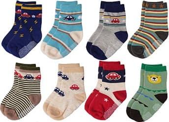 Flanhiri Baby Boys Toddler Non Skid Cotton Socks
