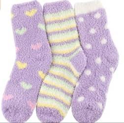 HASLRA Premium Soft Warm Microfiber Fuzzy Socks