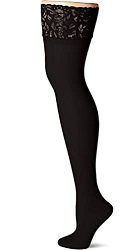Hanes Womens Plus Size Curves Sheer Lace Thigh High Socks