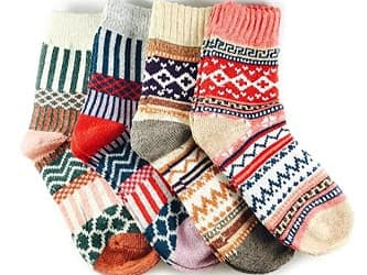 JOYCA & Co. Womens Multicolor Fashion Warm Wool Socks