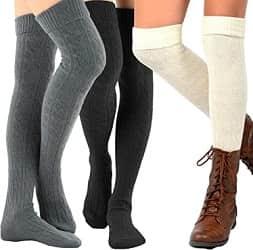 Teehee Womens Fashion Thigh High Socks