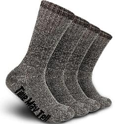 Time May Tell Mens Merino Wool Hiking Cushion Socks