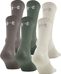 Under Armour unisex-adult Charged Cotton 2.0 Crew Socks